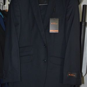 Ben Sherman slim skinny 2-piece suit BNWT navy
